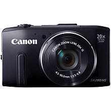 "Buy Canon PowerShot SX280 Smart Camera, HD 1080p, 12.1MP, 20x Optical Zoom, Wi-Fi, GPS with 3"" LCD Screen with 16GB + 8GB Memory Card Online at johnlewis.com"