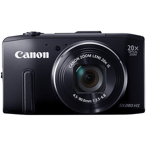 Buy Canon PowerShot SX280 Smart Camera, HD 1080p, 12.1MP, 20x Optical Zoom, Wi-Fi, GPS with 3 LCD Screen Online at johnlewis.com