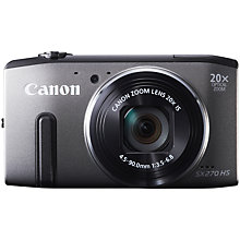 "Buy Canon PowerShot SX270 Camera, HD 1080p, 12.1MP, 20x Optical Zoom with 3"" LCD Screen with 16GB + 8GB Memory Card Online at johnlewis.com"