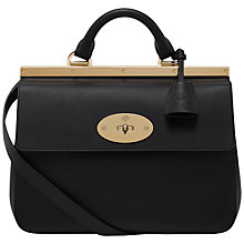 Buy Mulberry Suffolk Calf Leather Small Shoulder Handbag, Black Online at johnlewis.com