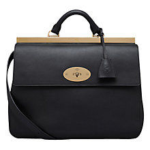 Buy Mulberry Suffolk Calf Shoulder Bag, Black Online at johnlewis.com