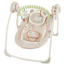 Buy Bright Starts Beary Smiles Portable Baby Swing Online at johnlewis.com