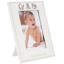 Buy John Lewis Baby Christening Frame, Linen Online at johnlewis.com