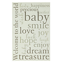 Buy John Lewis Baby Wall Plaque Online at johnlewis.com