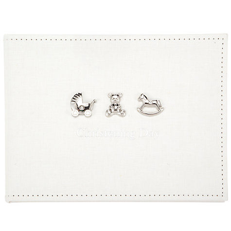 Buy John Lewis Christening Guestbook, Linen Online at johnlewis.com