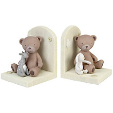 Buy John Lewis Baby Teddy and Rabbit Bookends Online at johnlewis.com