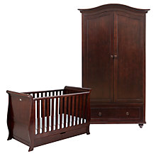 Buy Silver Cross Dorchester Cotbed and Wardrobe Set, Dark Cherry Online at johnlewis.com