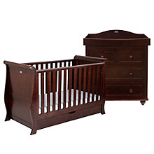 Buy Silver Cross Dorchester Cotbed and Dresser Set, Dark Cherry Online at johnlewis.com