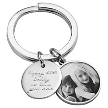 Buy Under the Rose Personalised Message Tag Fob Keyring, Large Online at johnlewis.com