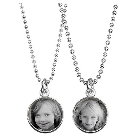 Buy Between You and I Personalised Tiny Photo Pendant Charm and Necklace Online at johnlewis.com