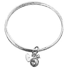 Buy Between You and I Personalised Photo Charm Bangles Online at johnlewis.com