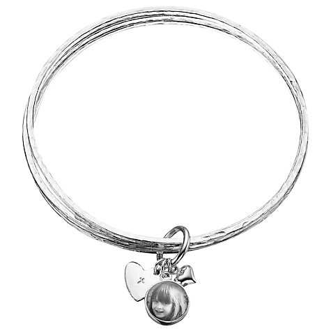 Buy Under the Rose Personalised Photo Charm Bangles Online at johnlewis.com