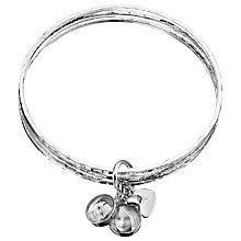 Buy Between You and I Personalised Photo Charm Bangle, 2 Charms Online at johnlewis.com