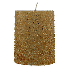 Buy John Lewis Beaded Candle, 10cm Online at johnlewis.com
