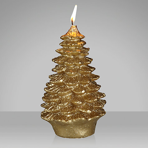 Buy John Lewis Decorative Glitter Christmas Tree Candle, Small Online at johnlewis.com