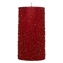 Buy John Lewis Beaded Candle, H15cm Online at johnlewis.com