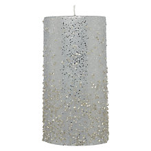 Buy John Lewis Beaded Candle, 15cm Online at johnlewis.com
