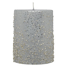 Buy John Lewis Beaded Candle, H10cm Online at johnlewis.com
