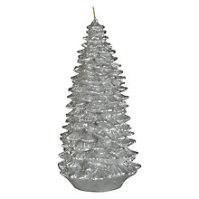 Buy John Lewis Decorative Glitter Christmas Tree Candle, Large Online at johnlewis.com