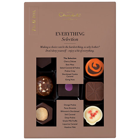 Buy Hotel Chocolat Chocolate H-Box, 170g Online at johnlewis.com