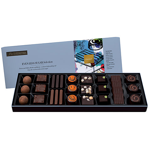 Buy Hotel Chocolat  Sleekster Even Less Sugar Chocolate Selection, 300g Online at johnlewis.com