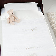 Buy Silver Cross Handmade with Love Cot and Cotbed Quilt, White Online at johnlewis.com