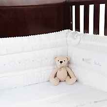 Buy Silver Cross Handmade with Love Cot Bumper, White Online at johnlewis.com