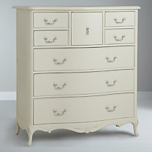 Buy John Lewis Rose 8-Drawer Chest, Ivory Online at johnlewis.com