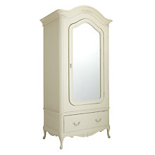 Buy John Lewis Rose 1-door Mirrored Wardrobe, Ivory Online at johnlewis.com