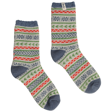 Buy Seasalt Frosty Cadet Cabin Ankle Socks, Multi Online at johnlewis.com