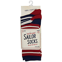 Buy Seasalt Sailor Stripe Ankle Socks, Pack of 3, Multi Online at johnlewis.com