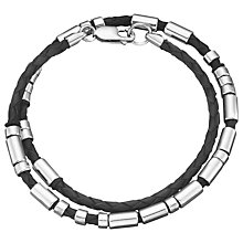 Buy Between You and I Personalised Double Morse Code Leather Bracelet Online at johnlewis.com