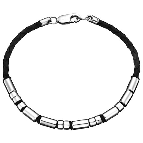 Buy Between You and I Personalised Morse Code Leather Bracelet Online at johnlewis.com