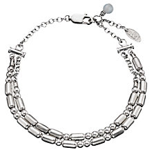 Buy Between You and I Personalised Double Morse Code Silver Bracelet Online at johnlewis.com