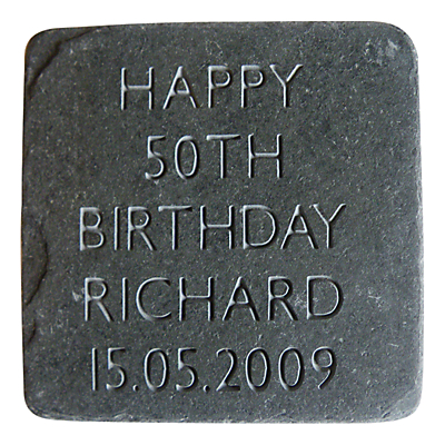 Image of Letterfest Personalised Birthday Slate
