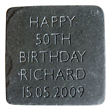 Buy Letterfest Personalised Birthday Slate Online at johnlewis.com