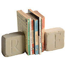 Buy Letterfest Personalised Engraved Yorkstone Bookends Online at johnlewis.com