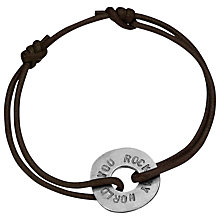 Buy Chambers & Beau Personalised Circle Embracelet Cord Online at johnlewis.com