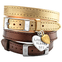 Buy Chambers & Beau Personalised Leather Double Wrap Heart Bracelet Online at johnlewis.com