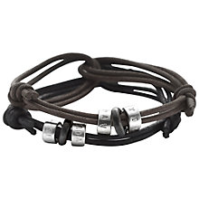 Buy Chambers & Beau Personalised Men's Bead Cord Wrap Bracelet Online at johnlewis.com