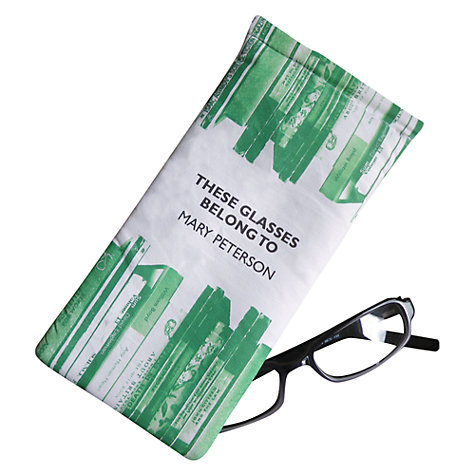 Buy Letterfest Personalised Glasses Cover, Green Online at johnlewis.com