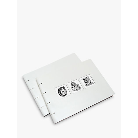 Buy Letterfest Leather Wedding Album, White Online at johnlewis.com