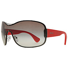 Buy Prada PR63OS ZVA6S1 Oversized Wraparound Sunglasses Online at johnlewis.com