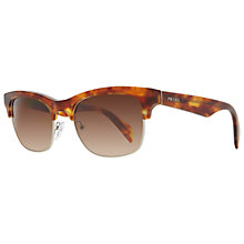 Buy Prada PR11PS 4BW6S1 Half Framed Sunglasses, Havana Online at johnlewis.com