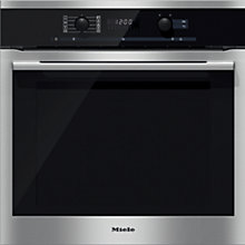 Buy Miele H6160B Single Electric Oven, Clean Steel Online at johnlewis.com