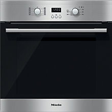Buy Miele H2361B Single Electric Oven, Clean Steel Online at johnlewis.com