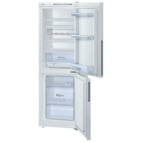 Buy Bosch KGV33NW20G Fridge Freezer, A+ Energy Rating, 60cm Wide, White Online at johnlewis.com