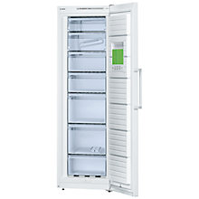 Buy Bosch GSV36VW30G Tall Freezer, A++ Energy Rating, 60cm Wide, White Online at johnlewis.com