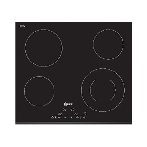 Buy Neff T11D41X2 Ceramic Hob, Black Glass Online at johnlewis.com
