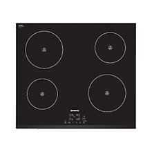 Buy Siemens EH631BA68B Induction Hob, Black Online at johnlewis.com